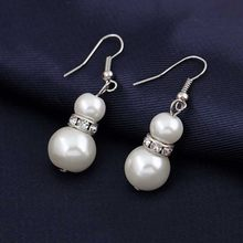 Europe Brand Simulated-Pearl Necklace Bracelet Earrings Women Jewelry Sets Inlay CZ Bride Set Women Wholesale Jewelry(China)