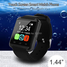 1.44 inch Touch Screen waterproof bluetooth V3.0 Smart Watch smartwatch Phone for Apple IOS Android Iphone6 5 Samsung Galaxy S5