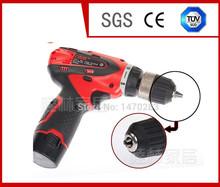 Free Shipping Multi-function Cordless Drill Electric screwdriver 1800mA Li-battery 12V