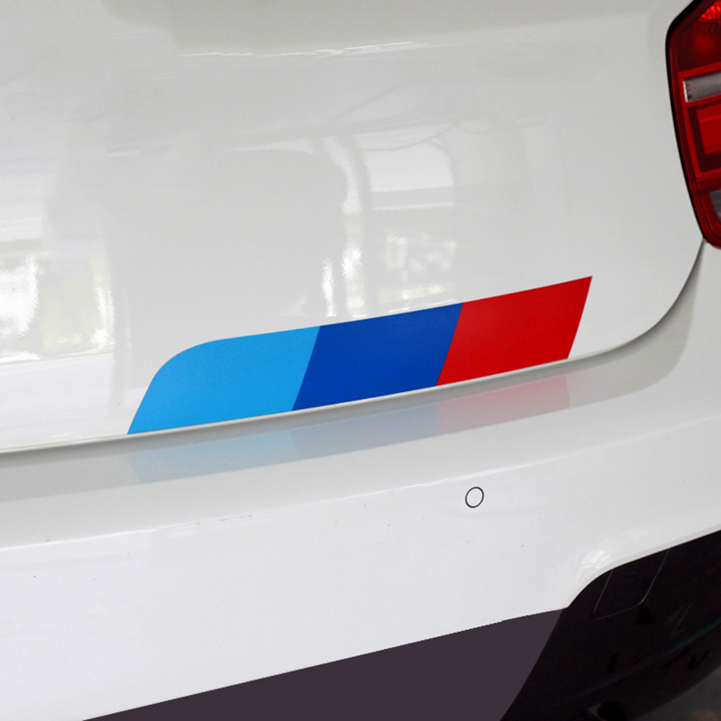 1 Set Mpower Colors German flag Car Tail Sticker Badge Car-styling For BENZ BMW Volkswagen Audi German cars car accessories(China (Mainland))