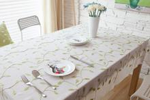 Cotton Tablecloths Embroidered Flower For Rectangular Tables Vintage Dining  Table Cover Coffee Table Runners And Placemats