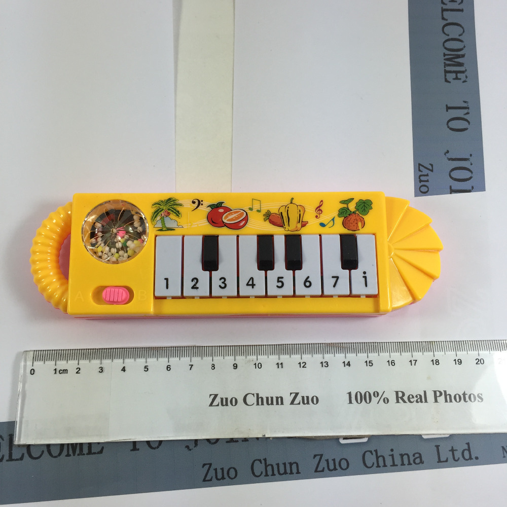ZCZ Small Lovely pattern yellow piano Study music NEW musical toy instrument toys for children baby educational W023(China (Mainland))