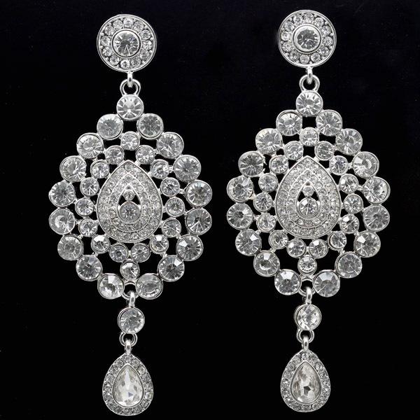 18 Design Fashion Platinum Gold Plated Rhinestone Indian Style Bridal Drop Earring Wedding Jewelry - Dragon Decoration Co.,Ltd. store