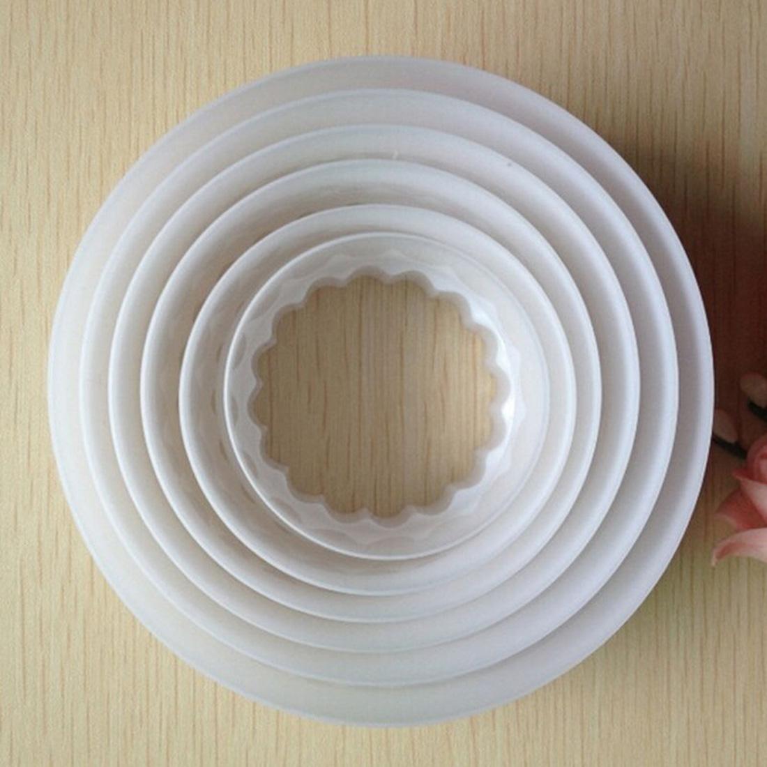 6Pcs/set Round Shape Sugarcraft Fondant Cake Decorating Cookies Cutter Paste Mold Tools(China (Mainland))