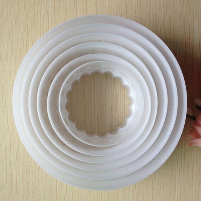 Round Shape Sugarcraft Fondant Mold Tools for Cake Decorating (6Pcs/set)