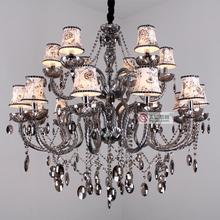 Fashion 18 crystal pendant light luxury living room lamps(China (Mainland))