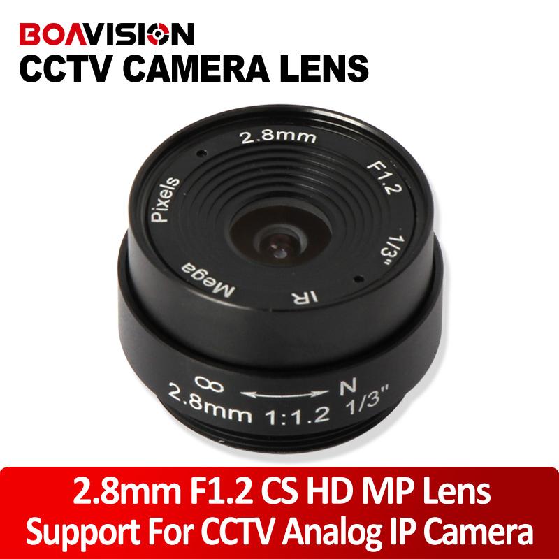 2.8MM Lens Wide Angle 120 Degree CCTV Camera Lens Dome CS Mount Support CCTV IP Analog Camera(China (Mainland))