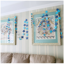 Buy 4M Paper Garland Star Shape String Banners Colorful Bunting Hanging Paper Birthday Wedding Party Home Decoration VBT56 P50 for $1.30 in AliExpress store