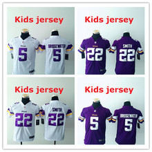 Kids youth Free fast shipping Best Quality 5 Teddy Bridgewater 28 Adrian Peterson 84 Cordarrelle Patterson(China (Mainland))