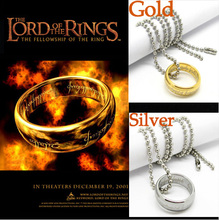 New Fashion Retro Gold Silver Plated Titanium Steel the hobbit and the lord of the rin necklace Harry Potter style man jewelry