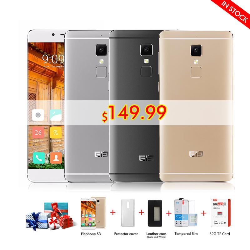 "Original 5.2""HD Elephone S3 Phone Dual 4g lte Smartphone Android 6.0 MTK6753 Octa Core 3GB+16GB 1920*1080(China (Mainland))"