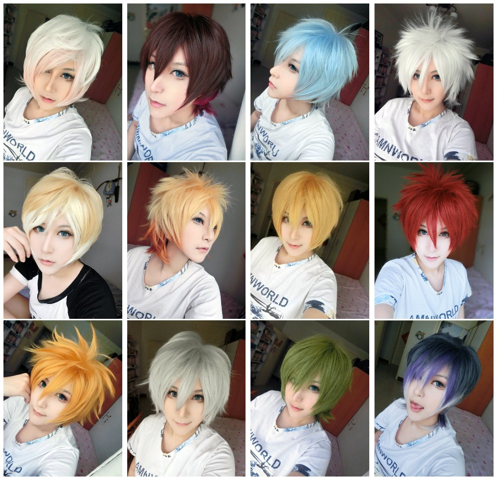 High Quality Short 30cm Synthetic Hair Wig New Arrive 12 Styles Cosplay Anime Costume Wig<br><br>Aliexpress