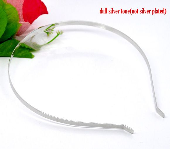 Silver Tone Metal Headbands Hair Band 14.5x12.5mm,5mm wide,sold per pack of 10 Mr.Jewelry(China (Mainland))
