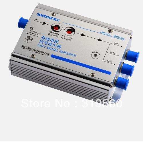Gain 30DB Cable TV Signal Amplifier Splitter Booster CATV amplifier 3 Output SB-8830H3/EH3