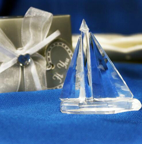 25Pcs Free Shipping Sailboat Choice Crystal Favor Beach Theme Charm Souvenir For Birthday Party Gift Baby Shower Favor And Gifts(China (Mainland))