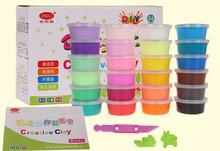 24 цвета мягкий окрашенный полимер моделирование глина пластилин и комплект инструментов Playdough комплект Chilidren игрушка подарок для малыша