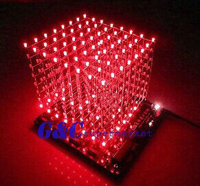 из светодиодов куб красно-