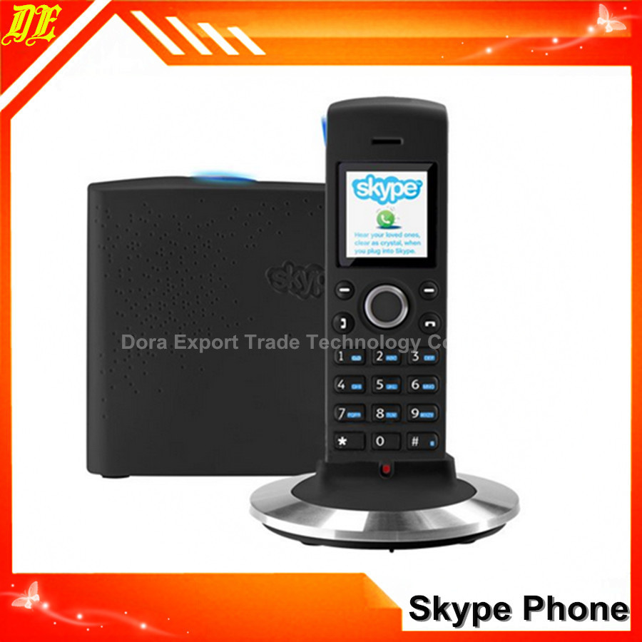 black Hot skype phone Wifi voip phone Wireless skype phone up to 4 handsets (2 Skype accounts),(China (Mainland))