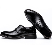 High Quality Genuine Leather Men Wedding Shoes Formal Dress Shoes Lace UP Pointed Toes Men Flat Shoes 2538(China (Mainland))