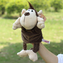 New arrvial shaun sheep animal hand puppets Baby loves doll Parent-child games toys turtle Civet cat selephant orangutans monkey(China (Mainland))