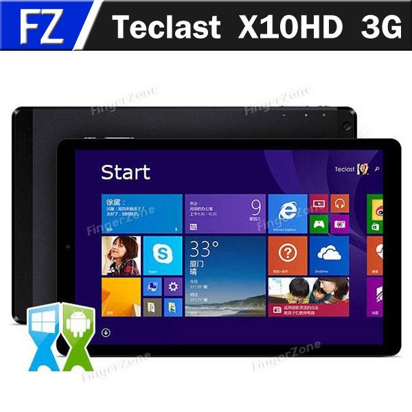 "Teclast X10HD 3G Dual Boot 10.1"" Ultra Retina Screen Windows 8.1 Android 4.4 Dual OS Z3736F 2GB 64GB 3G Tablet Phone Phablet(China (Mainland))"