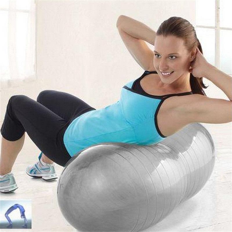 Sport Pilates Yoga Fitness Ball Exercise Anti-Burst yoga Ball multi-use burstproof PVC fitball trainning fitness balls 49*90cm(China (Mainland))