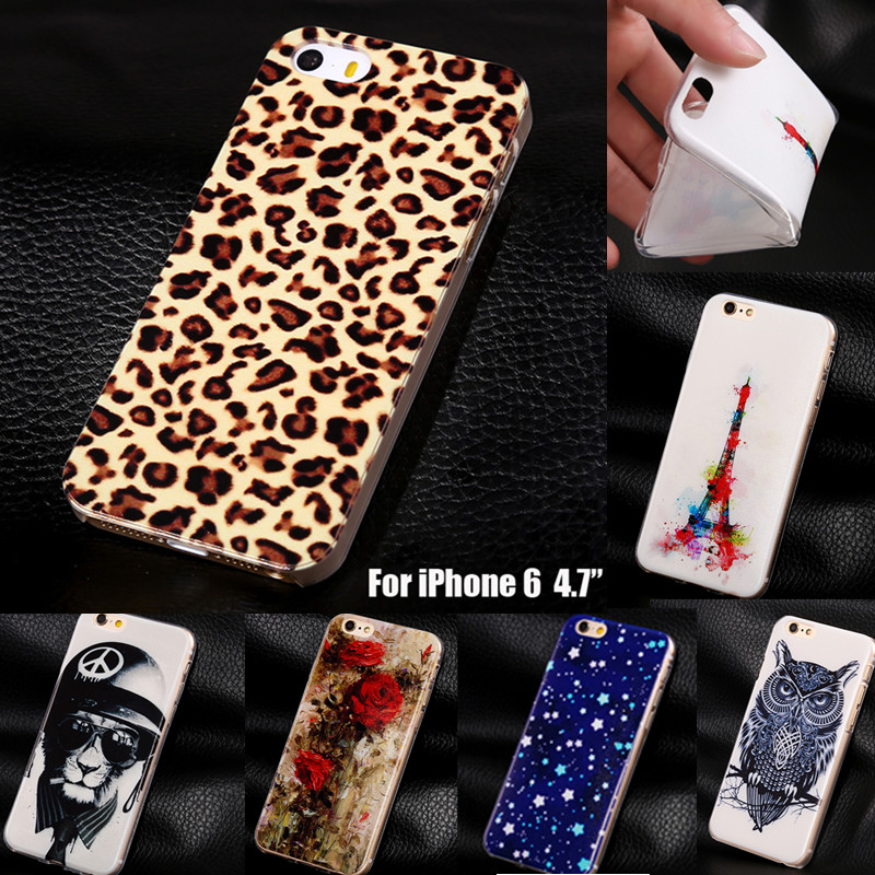 """Leopard Supreme Soft TPU Cover Cases For Apple iphone6 for iphone 6 6s 4.7"""" Phone Cases Covers for Apple 6 6s(China (Mainland))"""
