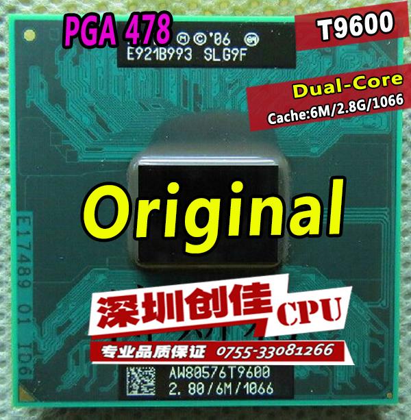 Shipping free intel cpu laptop Core 2 Duo t9600 CPU 6M Cache/2.8GHz/1066/Dual-Core Laptop processor for GM45/PM45(China (Mainland))