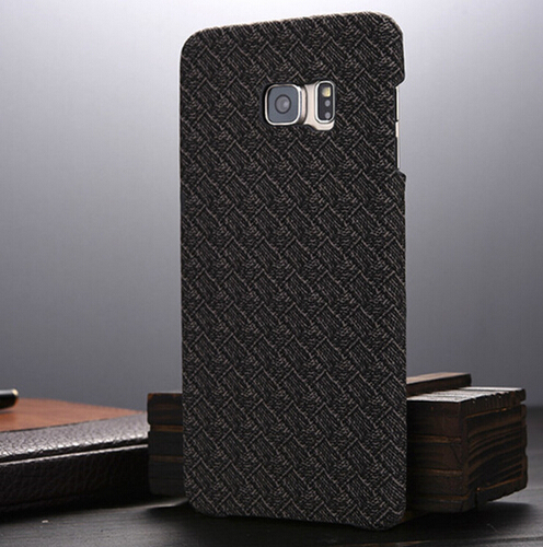 Luxury mesh lattice texture pc+fabric crafts cell phone case coque for samsung galaxy s6 edge plus Grid hard back cover fundas(China (Mainland))