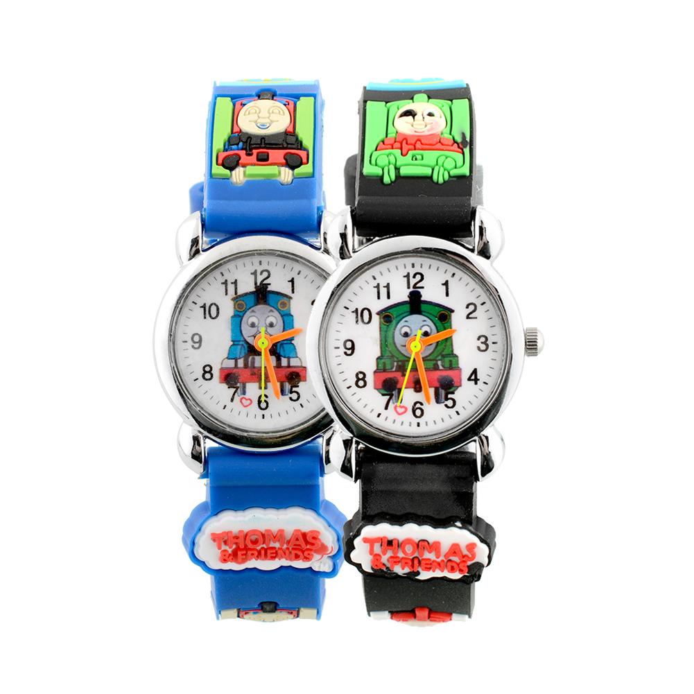 3D Cartoon Cute Train Children Black Band Kids Cartoon Quartz Wrist Watch Christmas Boy/Girl Birthday<br><br>Aliexpress