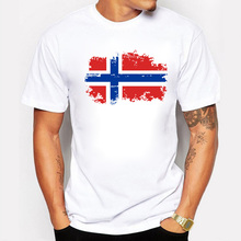 Buy Fashion European Cup Norway National Flag Design T shirts Men 100% Cotton Short Top & Tee Nostalgic Amazing T-shirt Men for $7.95 in AliExpress store