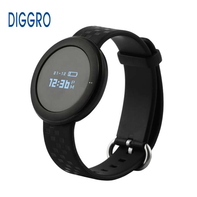 Diggro ET01 Smart Band Heart Rate Monitor Bracelet Bluetooth 4.0 Sleep Monitor Call/SMS Reminder Wristband for Android IOS Phone(China (Mainland))