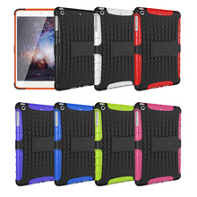 "Tyre Style Duty Armor TPU+PC Tablet Cases For Apple iPad Mini 4 iPad Mini4 iPad Mini IV 7.9"" Cases Cover With Kickstand(China (Mainland))"