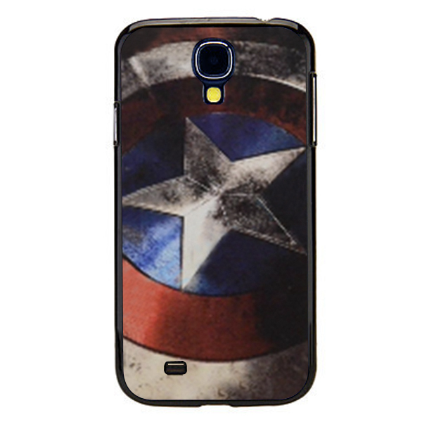Custom designed Super Hero Captain America Shield Cover case for samsung galaxy s4 Wholesale price with free shipped-LX1492(China (Mainland))