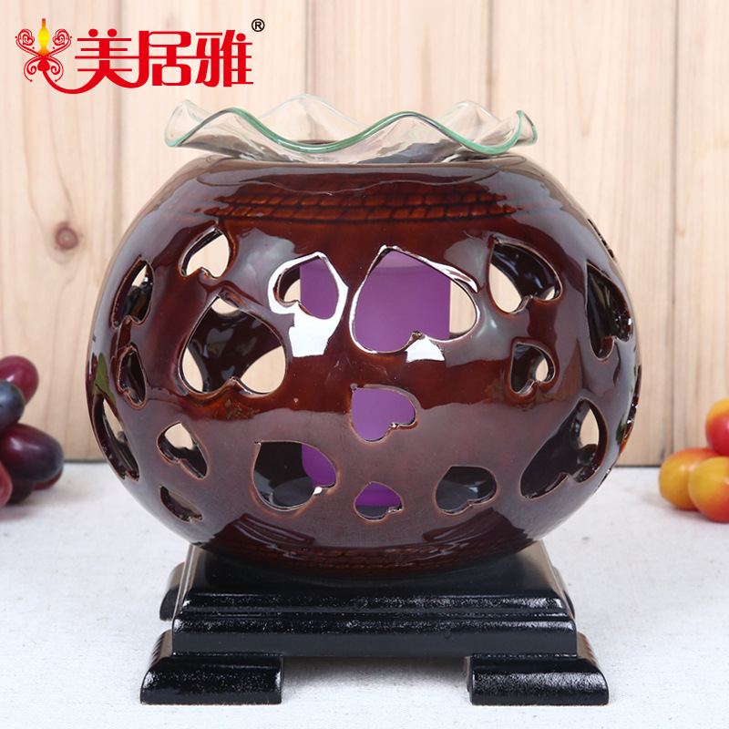 Mercure Accor factory outlets ceramic fragrance lamp oil lamp dimmer plug-in night light home decoration T0324(China (Mainland))
