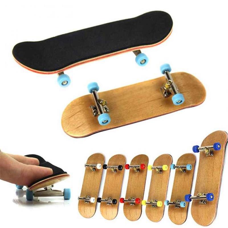 PU Maple Wood Cute Party Favor Kids Children Mini Finger Board Fingerboard Skate Boarding Toys AU-81(China (Mainland))