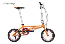 Free shipping single Speeds 14 inches Folding Bike, Folding bicycle , Aluminum Alloy Body, Both Disc Brakes.(China (Mainland))