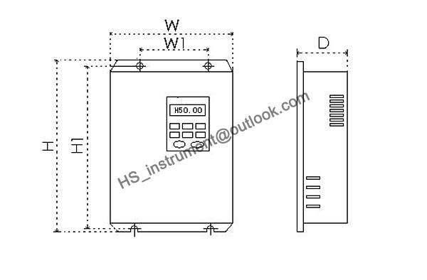 DOVOL DV300 2022 T 220V, 2.2kw frequency inverter motor