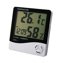 Mini Digital LCD Temperature Humidity Meter Clock Indoor Hygrometer Thermometer 5A76