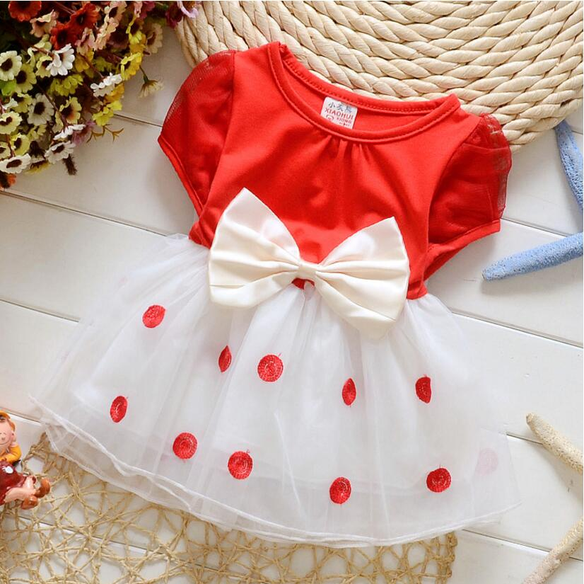 Baby Wedding Dress Newborn Toddler Girl Clothing For 1 Year Birthday Gift Chiffon Princess Gown Dress Robe Big Bowknot(China (Mainland))