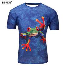2019 Новая мужская женская летняя футболка с 3D принтом, Модная уникальная индивидуальная футболка 7 цветов с масляной краской, повседневная к...(China)