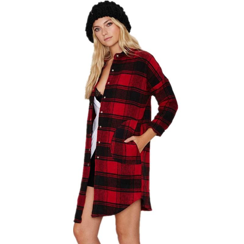 2016 Spring Autumn Knitted Cardigan Women Sweater Long Sleeve Long-section Cardigans Plaid Blouse Basic Jacket Coat Outwear(China (Mainland))