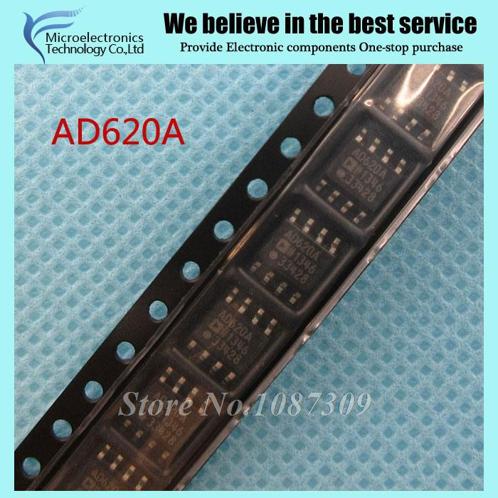 10PCS free shipping AD620A AD620 AD620AR AD620ARZ SOP-8 Instrumentation Amplifiers Low Drift Low new original(China (Mainland))