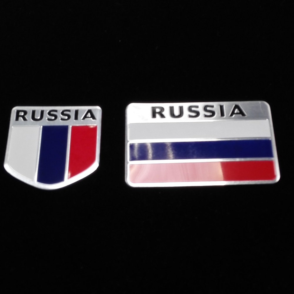3D Aluminum Russia Flag car sticker accessories stickers For VW mazda mitsubishi lada Peugeot opel skoda