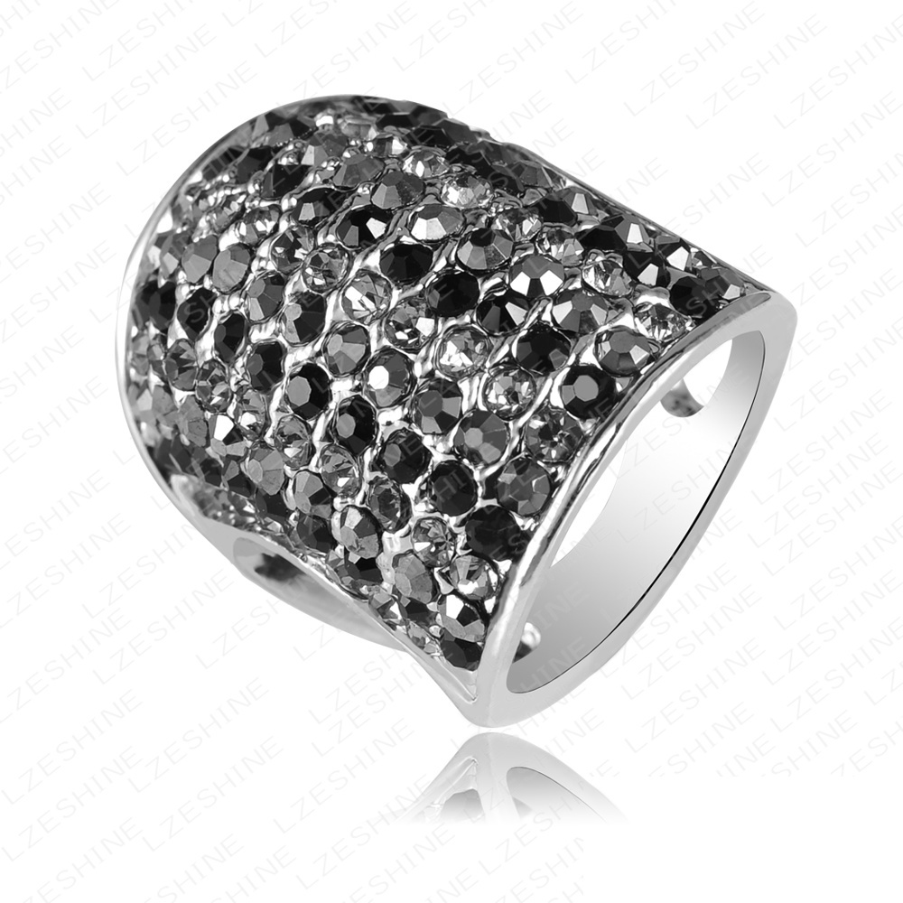 selling fashion big knuckle ring white gold ring