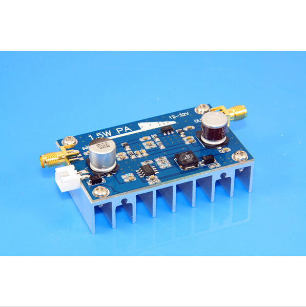High quality 10MHz-500MHZ 1.5W Amplifier HF FM VHF UHF FM transmitter broadband RF power amplifier(China (Mainland))