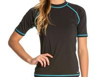 UPF50+ Women Rashguard swim shirt plus Size UV protection Snorkeling Surfing Windsurfing lycra wetsuit rash guard Big Size