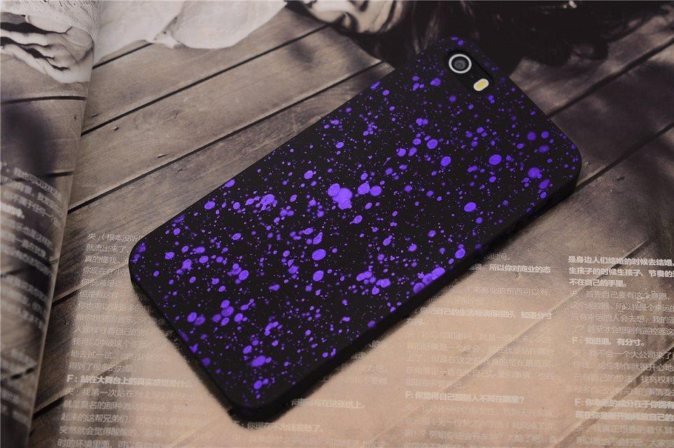 Shining 3D star back cover for iphone 5 5s PC hard case phone cover multi colors free shipping(China (Mainland))