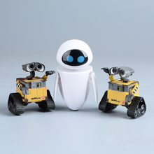 Funny 6cm Wall-E Robot & 9cm EVE PVC Robot Action Figure Wall E Collection Model Toys Dolls Best Gift For Children(China (Mainland))