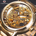 Mens Watches Top Brand Luxury Automatic Mechanical Skeleton Watch Clock Forsining 2016 3D New Series Hollow